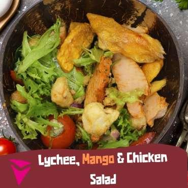 Lychee, Mango & Chicken Salad recipe | Jungle Fruits