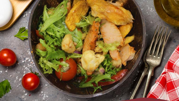 Lychee, Mango & Chicken Salad